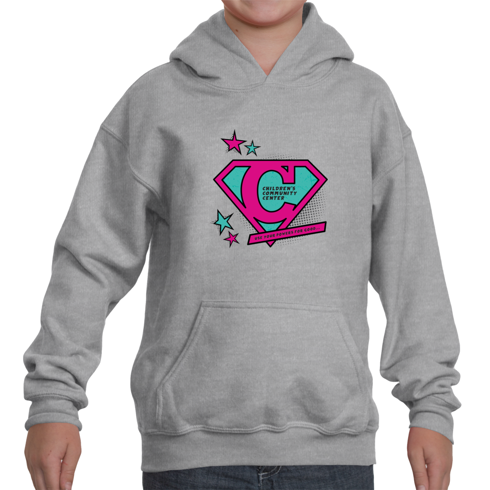 Big Kid\'s Pullover Hoodie with Super C in Magenta and Turquoise ...